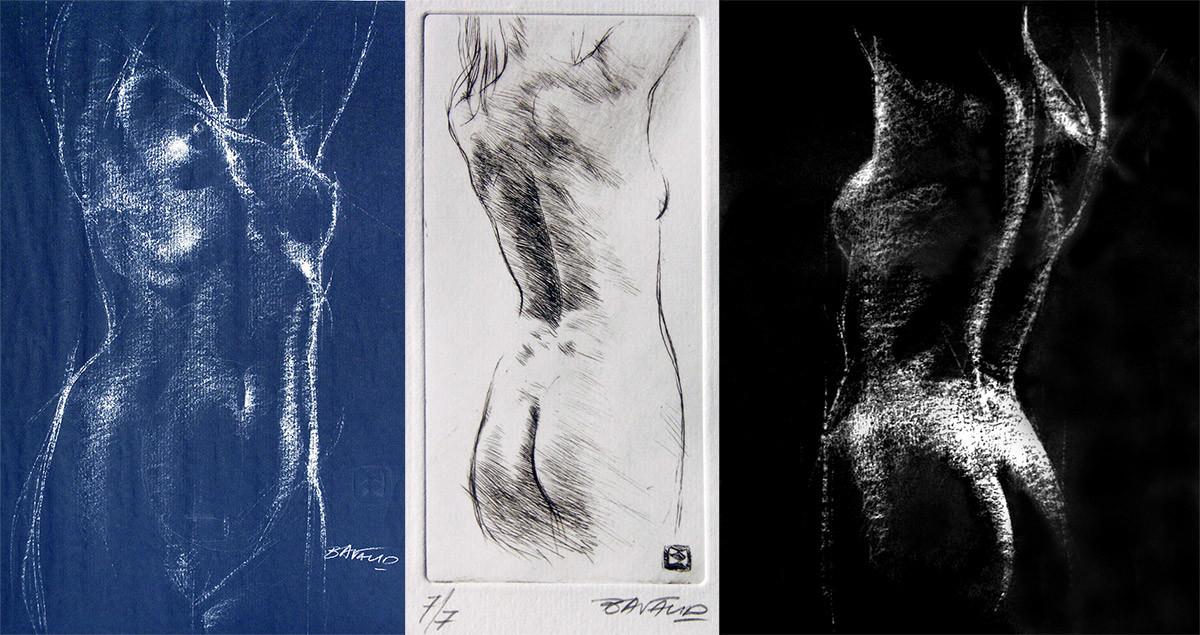 Ensemble de nus académiques par Bernard Bavaud, techniques mixtes