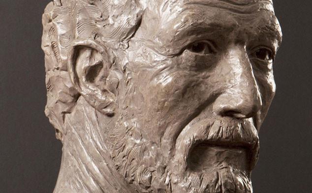 Sculpture autoportrait L'âge d'Or à 50 ans par Bernard Bavaud.